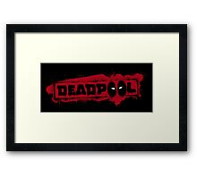 deadpool chest drips Framed Print