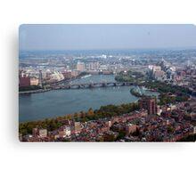 Boston Aerial View Canvas Print