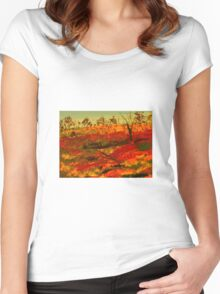 Australian Wildflowers - Western Australia Women's Fitted Scoop T-Shirt