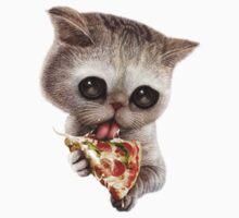 CAT LOVES PIZZA Kids Tee