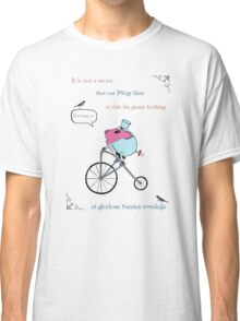PiGgy riding a penny-farthing Classic T-Shirt