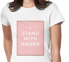 I Stand With Amber Womens Fitted T-Shirt