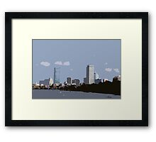 Head of the Charles Boston Cutout Framed Print