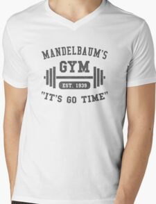 Mandelbaum's Gym Mens V-Neck T-Shirt
