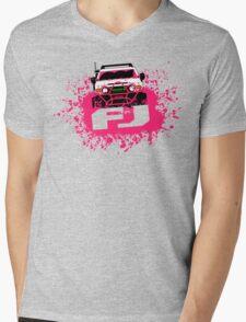 Pink FJ Mens V-Neck T-Shirt
