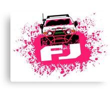 Pink FJ Canvas Print