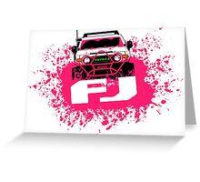 Pink FJ Greeting Card