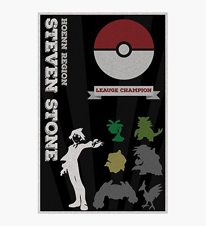 Steven Champion Poster (Pokemon) Photographic Print