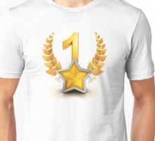 VIP number one winning badge as champion Unisex T-Shirt
