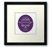 Weasleys' Wizard Wheezes Staff Purple Variation Framed Print