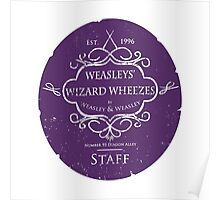 Weasleys' Wizard Wheezes Staff Purple Variation Poster
