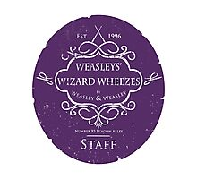 Weasleys' Wizard Wheezes Staff Purple Variation Photographic Print