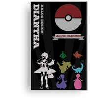 Dianthia Champion Poster (Pokemon) Canvas Print