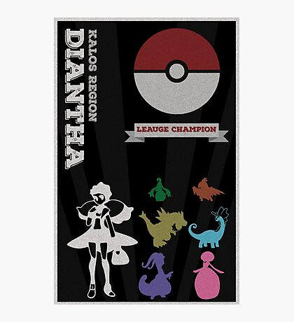 Dianthia Champion Poster (Pokemon) Photographic Print