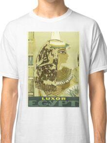 Luxor, Egypt Vintage Travel Poster Classic T-Shirt