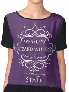 Weasleys' Wizard Wheezes Staff Shirt Purple Chiffon Top