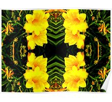 Yellow Blossoms in the Park Poster