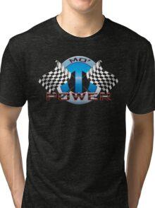 Mo' Power - Blue Tri-blend T-Shirt