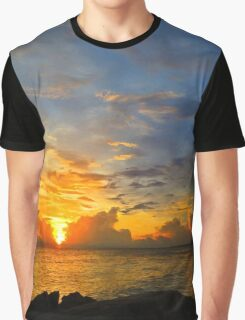 Sunset In Paradise - Beach Photography by Sharon Cummings Graphic T-Shirt