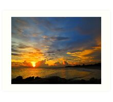 Sunset In Paradise - Beach Photography by Sharon Cummings Art Print