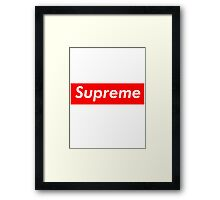 supreme nyc Framed Print