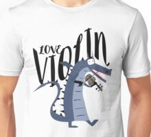 Blue dragon violinist Unisex T-Shirt