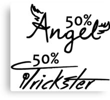 50% Angel - 50%Trickster Canvas Print