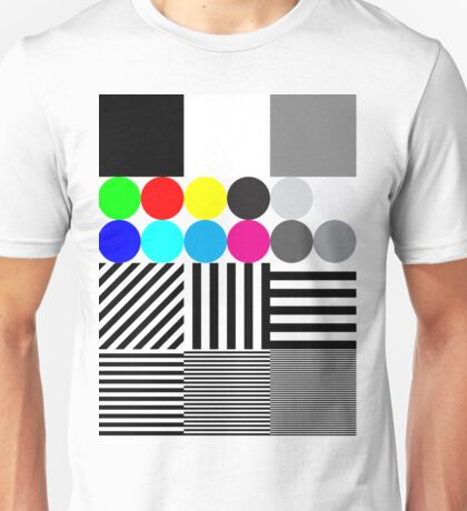 Extreme tone test pattern with colour Unisex T-Shirt