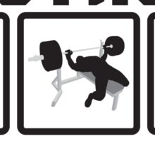 Get Strong Or Die Trying Sticker