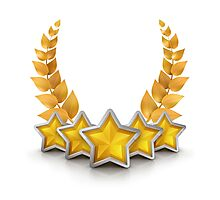 five star emblem for exclusivity and ultimate luxury Photographic Print