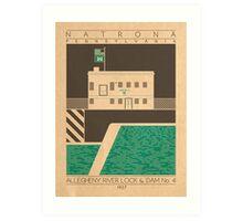 Allegheny River Lock & Dam No. 4 - 1927 (Green) Art Print