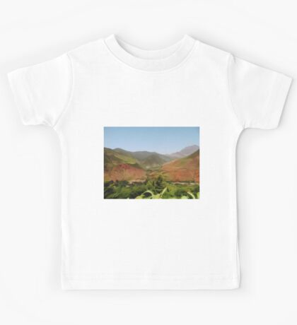 Mountain Landscape - impressionism Kids Tee