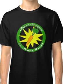 Supercharged Vegan and Vegetarian design (no background) Classic T-Shirt