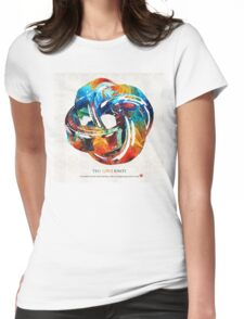 Romantic Love Art - The Love Knot - By Sharon Cummings Womens Fitted T-Shirt