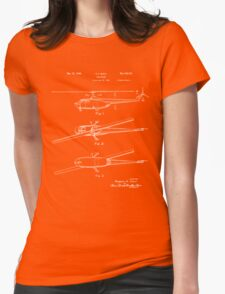 Helicopter Patent - Black Womens Fitted T-Shirt