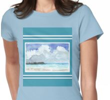 Beach house style 3 - Tropical island Womens Fitted T-Shirt