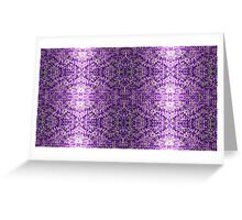 Knitted Purple Pattern Greeting Card