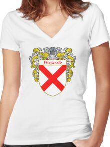 Fitzgerald Coat of Arms/Family Crest Women's Fitted V-Neck T-Shirt