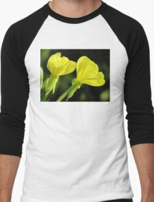 Morning Dew On Evening Primrose Men's Baseball ¾ T-Shirt