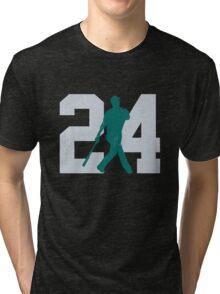 The Kid (Teal & Gray) Tri-blend T-Shirt