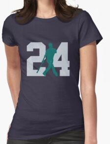 The Kid (Teal & Gray) Womens Fitted T-Shirt