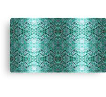 Turquiose Knitted Pattern Canvas Print