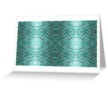 Turquiose Knitted Pattern Greeting Card