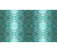Turquiose Knitted Pattern Photographic Print