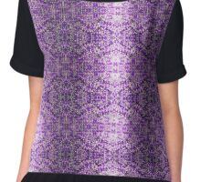 Knitted Purple Pattern Chiffon Top