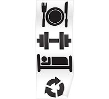 Eat, Lift, Sleep, Repeat (Pictographs) Poster
