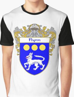 Flynn Coat of Arms/Family Crest Graphic T-Shirt