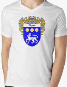 Flynn Coat of Arms/Family Crest Mens V-Neck T-Shirt