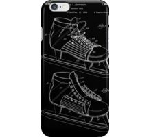Hockey Skate Patent - Black iPhone Case/Skin