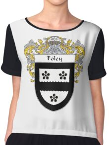 Foley Coat of Arms/Family Crest Chiffon Top